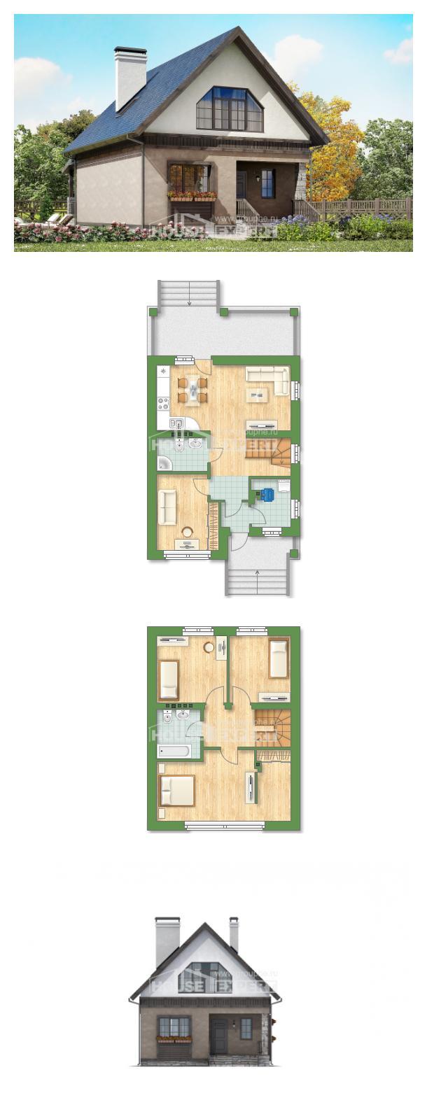 Проект дома 130-003-П | House Expert