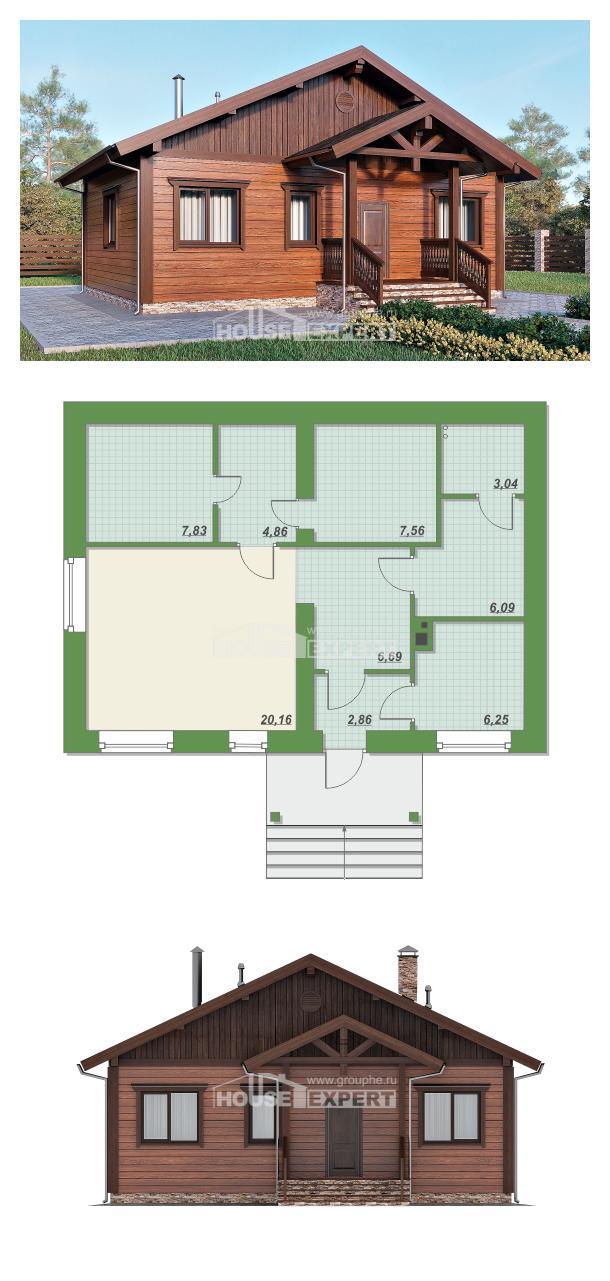 Проект дома 065-001-П   House Expert